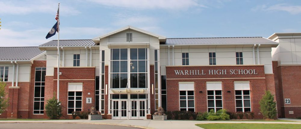Warhill High School is just one of several schools in the Historic Triangle participating in the fall sports season. (WYDaily/ Courtesy of WJCC Schools)