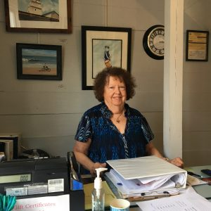 Shirley Cooper is a longtime member of the YAF.  She enjoys the camaraderie that comes with volunteering in the gallery.