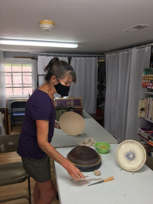 Lisa Trichel-Beavers is a clay artist and president of the Yorktown Arts Foundation.